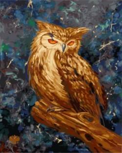 Картина по номерам Загадочная сова