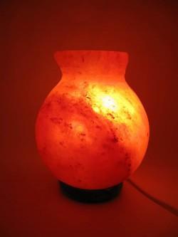 Соляная лампа (SL-32) Ваза 2,1кг. (d-12,h-17 см)(8 шт ящ.)(Гималайская соль)