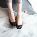 Кружевные тапочки Носочки Черный