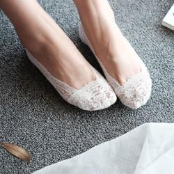 Кружевные тапочки Носочки Белый