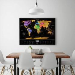 Скретч карта мира Travel Map Black World, англ