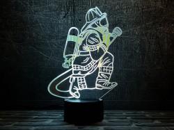 3D светильник Пожарный 2