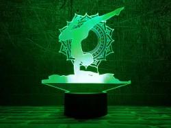 3D-светильник Йога 2