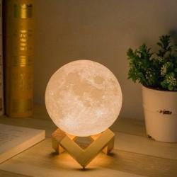 3D светильник-Ночник Луна 18 см