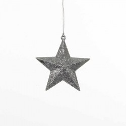 Украшение декоративная Звезда объемная Christmas House, цвет серебристый
