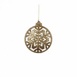 Украшение декоративная Снежинка симметричная Christmas House, цвет золотистый