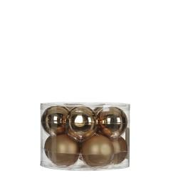 Елочные шарики House of Seasons комплект 10 шт, цвет шампань