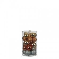 "Елочные шарики ""House of Seasons"" комплект 23 шт, цвет микс: золото, серебро"