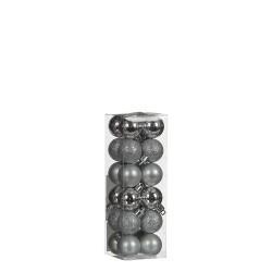 Елочные шарики House of Seasons комплект 24 шт, цвет серый