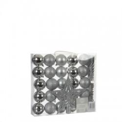 Елочные шарики House of Seasons набор из 33 шт, цвет: оттенки серого