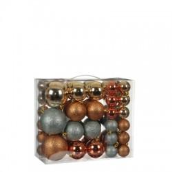 Елочные шарики House of Seasons комплект 46 шт, цвет микс