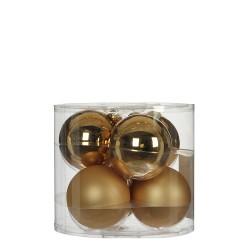 Елочные шарики House of Seasons комплект 6 шт, цвет шампань