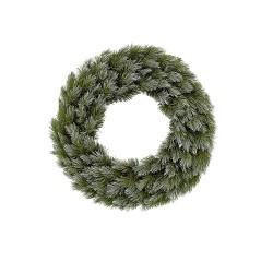Венок ø 45 см. декоративный искусственный Pittsburgh зеленый с эффектом покрытия
