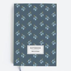 Блокнот WRITE&DRAW. BLUE FLOWERS.