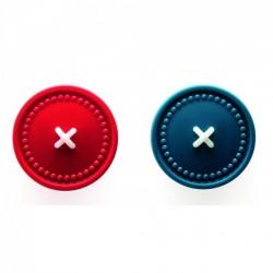 Крючки настенные (магнитные клипсы) Button Up OTOTO Бирюзовый / Красный