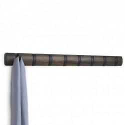 Настенная вешалка 8 Flip Umbra Черная / Walnut