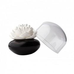 Подставка для ватных палочек Lotus Cotton Bud Qualy Черная / Белая