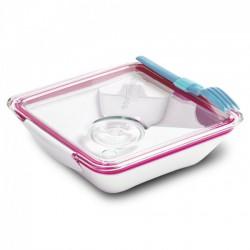 Ланч бокс квадратный Box Appetit Black+Blum Белый / Розовый