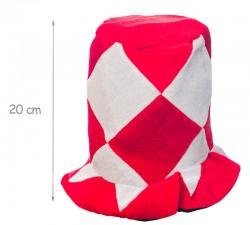 Шапка Цилиндр красно-белая