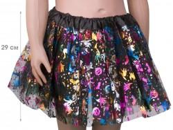 Карнавальная юбка с принтом Хэллоуин