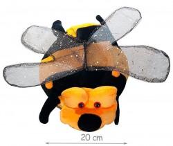 Шапка Пчелка с крыльями