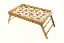 Бамбуковый столик для завтрака Кленовый лист