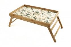 Бамбуковый столик для завтрака Смородина