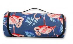 Водонепроницаемый коврик для пикника Фламинго, Blue