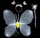 Крылья бабочки двухслойные с тельцем белые