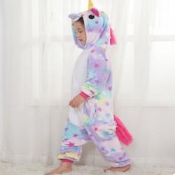 Детская пижама кигуруми Единорог со звездами
