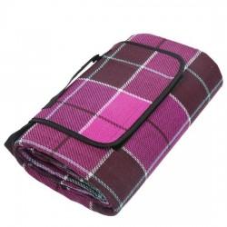 Водонепроницаемый коврик для Пикника Клетка Purple