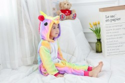 Детская пижама кигуруми Единорог радужный