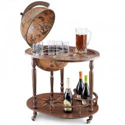 Глобус-бар напольный со столиком Джазон