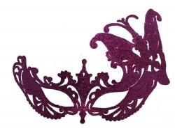 Венецианская маска Баттерфлай малиновая