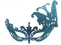 Венецианская маска Баттерфлай голубая
