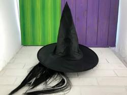 Шляпа Ведьми с волосами