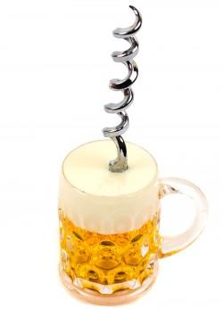Пивной бокал магнит штопор