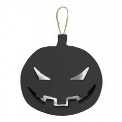 Декор объемный Тыква злая черная маленькая