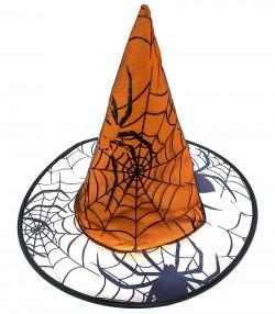Колпак Паук с паутиной оранжевый