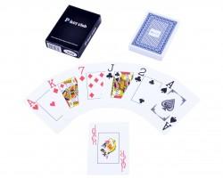 Карты игральные пластиковые Poker Club Синяя Рубашка