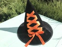Шляпа Ведьмочки детская с оранжевой лентой