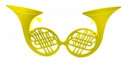 Очки Саксофон желтые
