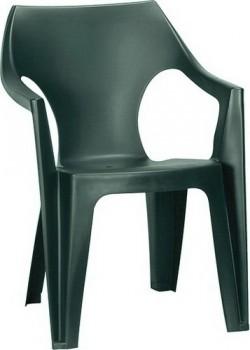 Стул пластиковый Dante low back, темно - зеленый