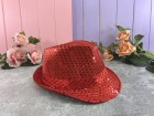 Шляпа Твист красная