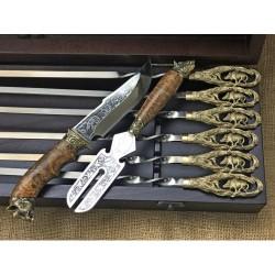 Эксклюзивный набор для шашлыка Кабан Шампура+нож+вилка