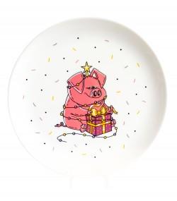 Тарелка Новогодняя хрюша
