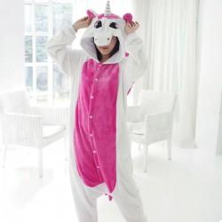 Пижама Кигуруми Единорог Розовый с крыльями L