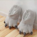 Плюшевые Тапочки Кигуруми Лапы Grey