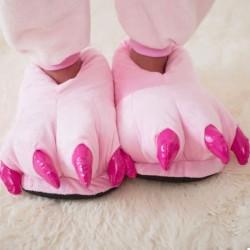 Плюшевые Тапочки Кигуруми Лапы Pink