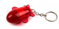 Брелок ручка ракета красная